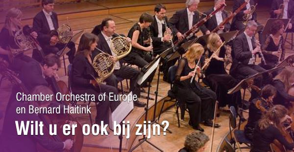 Chamber Orchestra of Europe en Bernard Haitink